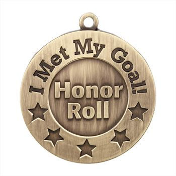 I Met My Goal/Honor Roll Gold Academic Medallion