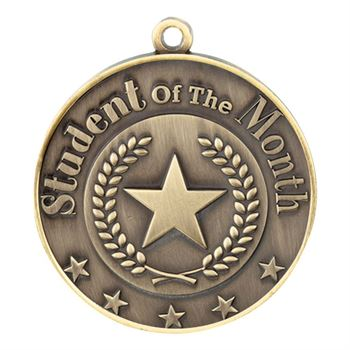 Student Of The Month Gold Academic Medallion