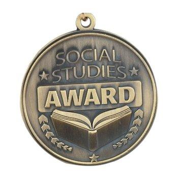 Social Studies Award Gold Academic Medallions