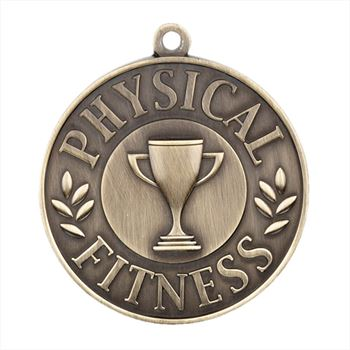 Physical Fitness Gold Academic Medallions