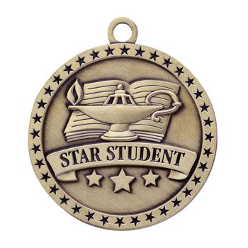 Star Student Gold Academic Medallion