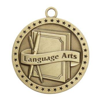 Language Arts Gold Academic Medallion