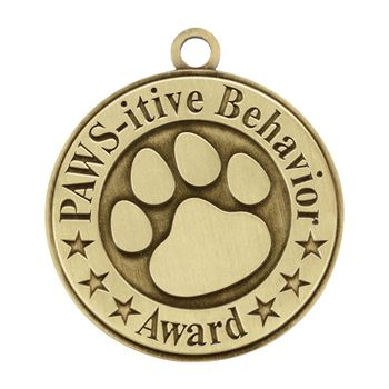 Paws-itive Behavior Gold Academic Medallion