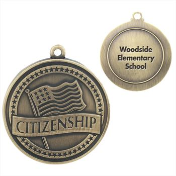 Citizenship Gold Academic Medallion - Personalization Available