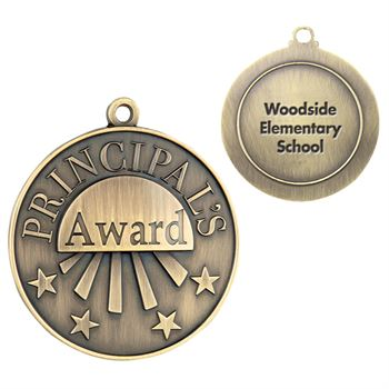 Principal's Award Gold Academic Medallion - Personalization Available
