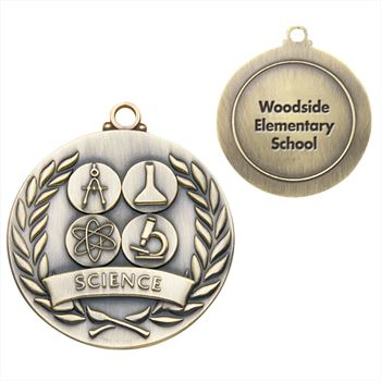 Science Gold Academic Medallion - Personalization Available