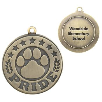 Paw Pride Gold Academic Medallion - Personalization Available