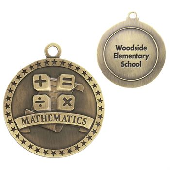 Mathematics Gold Academic Medallion - Personalization Available