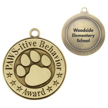 PAWS-itive Behavior Gold Academic Medallion - Personalization Available