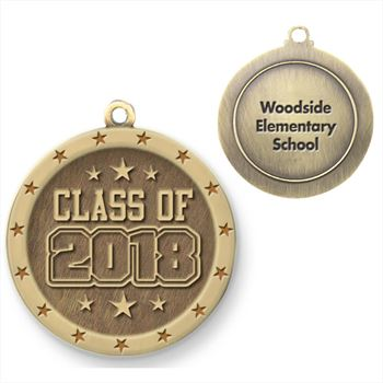 Class Of 2018 Gold Academic Medallion - Personalization Available