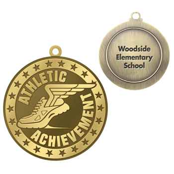 Athletic Achievement Gold Academic Medallion - Personalization Available
