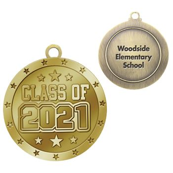 Class Of 2021 Gold Academic Medallion - Personalization Available