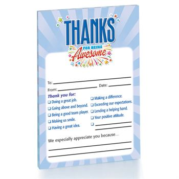 Thanks For Being Awesome 4-Color Notepad Pack