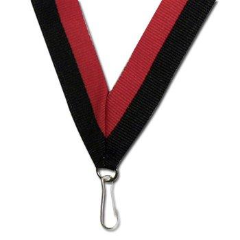 "Red/Black 30"" Neck Ribbon"