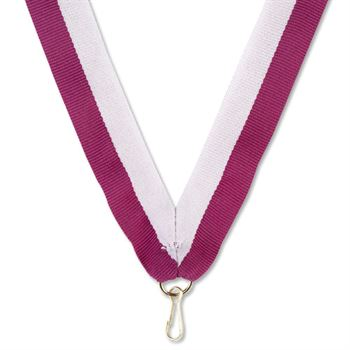 "Purple/White 30"" Neck Ribbon"