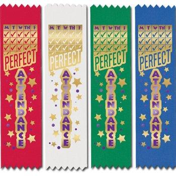 Perfect Attendance Ribbon 100-Piece Assortment Pack