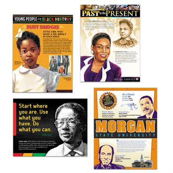 Black History Month Deluxe 40-Piece Laminated Poster Set