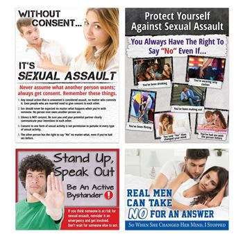 Sexual Assault Awareness Poster Assortment Set