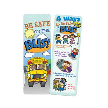 School Bus Safety Themed Bookmark Assortment Pack