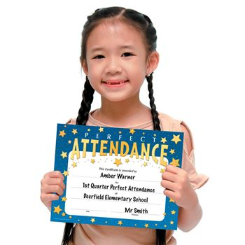 Perfect Attendance Certificate Assortment Pack