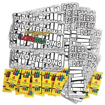 #ILoveReading Color Me Bookmark And Crayons 50-Piece Kit