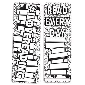 I Love Reading Color Me Bookmark And Crayon 50-Piece Kit