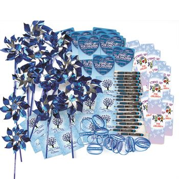 Child Abuse Prevention 250-Piece Value Pack