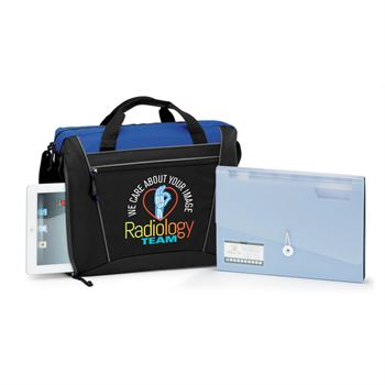 Radiology Team: We Care About Your Image Westbury Briefcase Bag & Expanding File Folder Gift Set