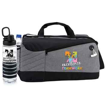 Excellence Through Teamwork Princeton Duffel Bag & Fresno Water Bottle Combo