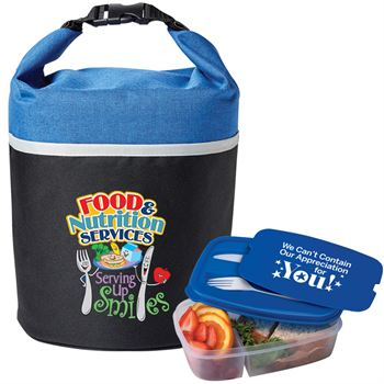 Food & Nutrition Services: Serving Up Smiles Bellmore Cooler Bag & 2-Section Food Container Combo