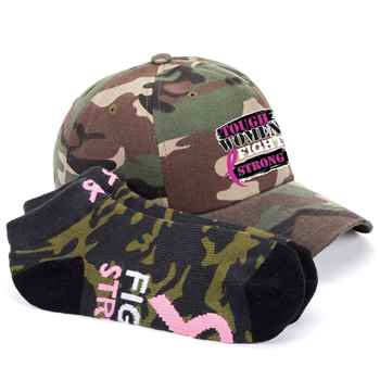 Tough Women Fight Strong Baseball Cap & Socks Combo