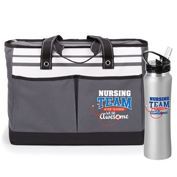 Nursing Team We Don't Do Average We Do Awesome Traveler Tote & Lakewood Water Bottle 25-Oz. Gift Set