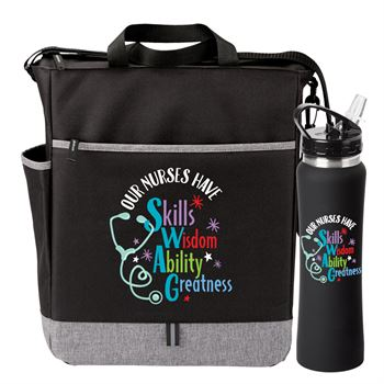 Our Nurses Have SWAG Fairfield Tote Bag & Lakewood Water Bottle 25-Oz. Gift Set