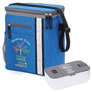 Hospice Care: Touching Lives, Lifting Spirits Westbrook Lunch/Cooler Bag & Food Container Gift Set
