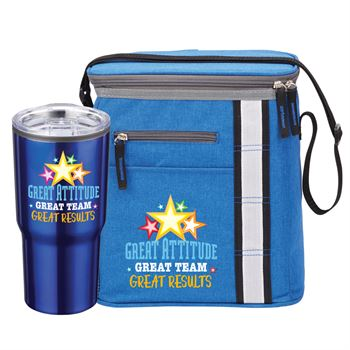 Great Attitude, Great Team, Great Results TImber Tumbler & Westbrook Lunch/Cooler Bag Gift Combo