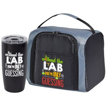 Without The Lab You're Only Guessing Lunch/Cooler Bag & Travel Tumbler Gift Set