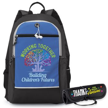 Working Together Building Children's Futures Bayside Backpack & Neoprene Roll Up Combo