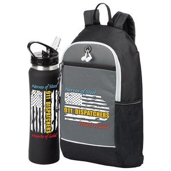 Dispatchers: Nerves Of Steel Heart Of Gold Bayside Backpack & Lakewood Water Bottle 25-Oz. Gift Set