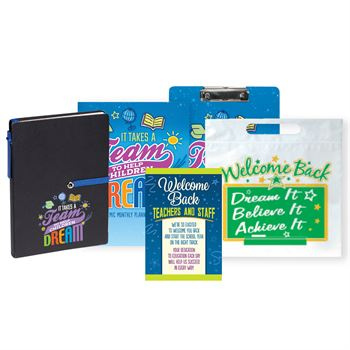 It Takes A Team To Help Children Dream Academic Monthly Desk Planner & Pen Supply Kit #3