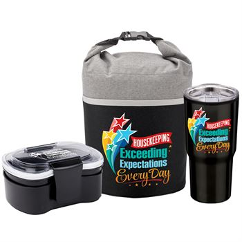 Housekeeping Exceeding Expectations Every Day Food Containers, Cooler Lunch Bag & Timber Tumbler Gift Set