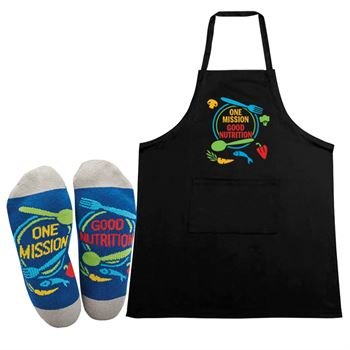One Mission Good Nutrition Apron/Sock Combo