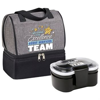 Guest Services Team: We Strive For Excellence Lunch/Cooler Bag & Food Container Gift Set