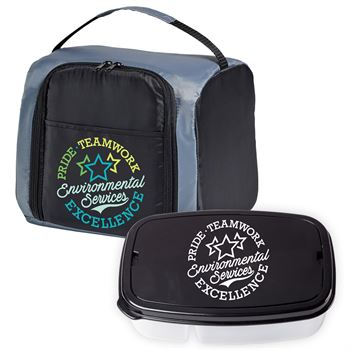 Environmental Services: Pride, Teamwork, Excellence Lunch/Cooler Bag & Food Container Gift Combo