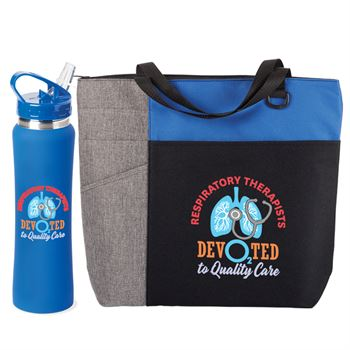 Respiratory Therapists: Devoted To Quality Care Ashland Tote Bag & Water Bottle Combo
