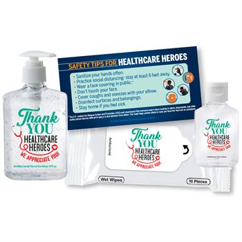 Thank You Healthcare Heroes We Appreciate You On-The-Go & At Work Self-Protection Kit