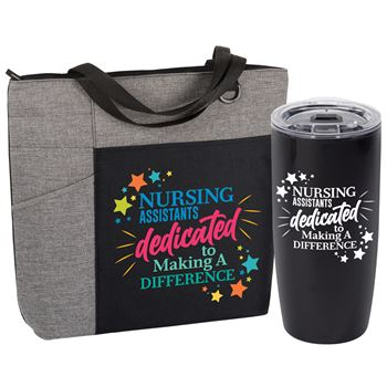 Nursing Assistants: Dedicated To Making A Difference Ashland Tote And Sierra Acrylic Tumbler Gift Set