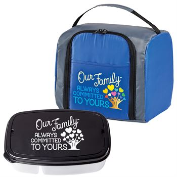 Our Family: Always Committed To Yours Springfield Lunch/Cooler Bag & 2-Section Food Container Gift Set