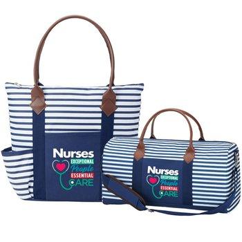 Nurses: Exceptional People, Essential Care Nantucket Tote & Weekender Duffel Bag Gift Set