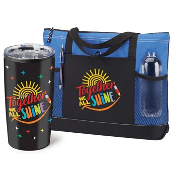 Together We All Shine Moreno Tote Bag & Teton Tumbler Combo