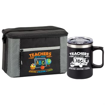 Teachers Are All About The ABCs Atlantic Lunch/Cooler Bag & Sonoma Mug Combo